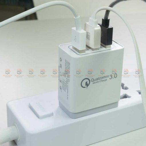 ที่ชาร์จแบต 18W fast quick charge 3.0 Travel usb charger 3 ports for iPhone ipad Samsung Android รีวิว ตัวอย่างสินค้าจริง-6