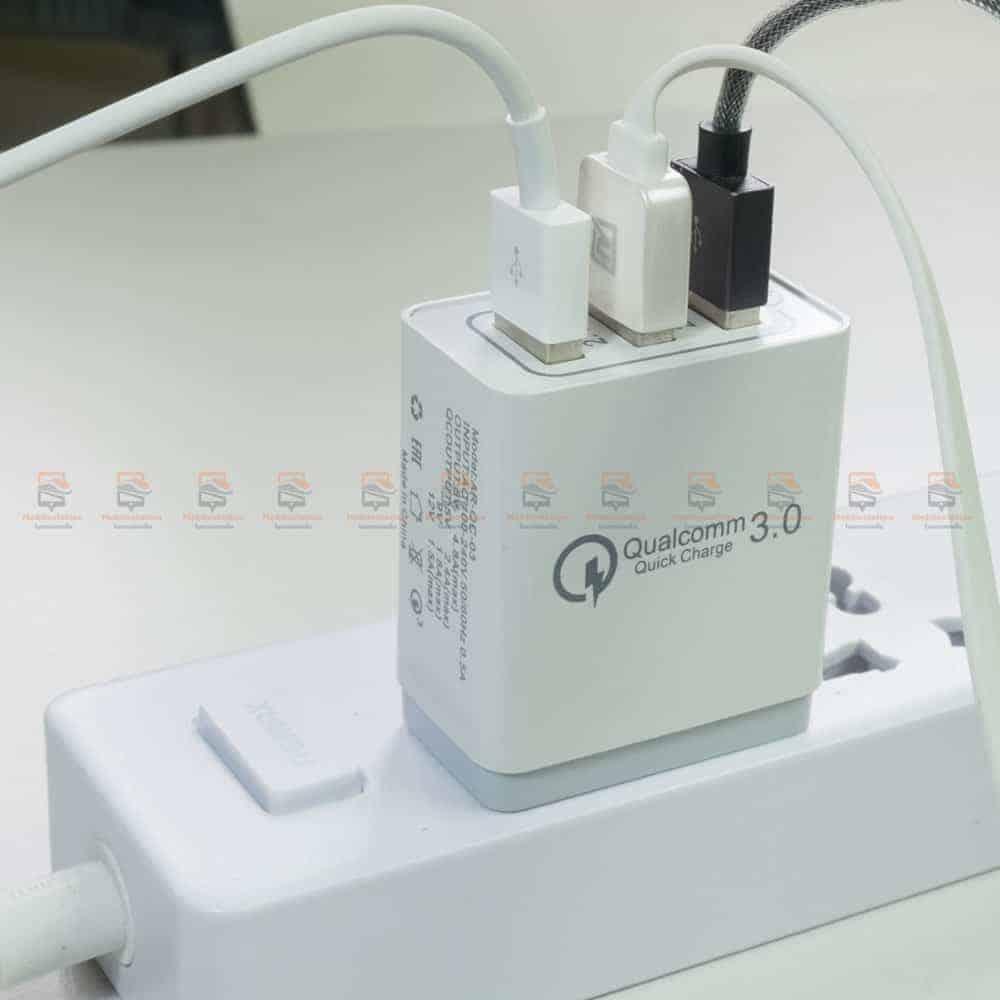 ที่ชาร์จแบต fast quick charge 3.0 Travel usb charger 3 ports for iPhone ipad Samsung Android รีวิว ตัวอย่างสินค้าจริง-6