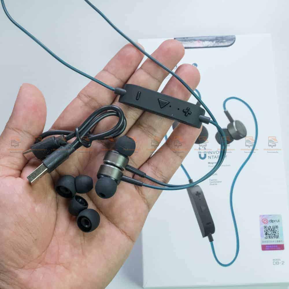 หูฟังบลูทูธ in-ear เสียงดี เบสหนัก dprui DB-2 รีวิว ตัวอย่างสินค้าจริง-4