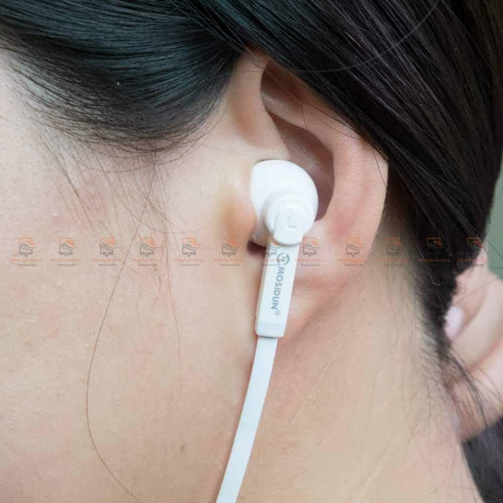 หูฟัง Bluetooth mosidun r8 Sports earphones แบบ iPhone-รีวิว รูปสินค้าจริง-10