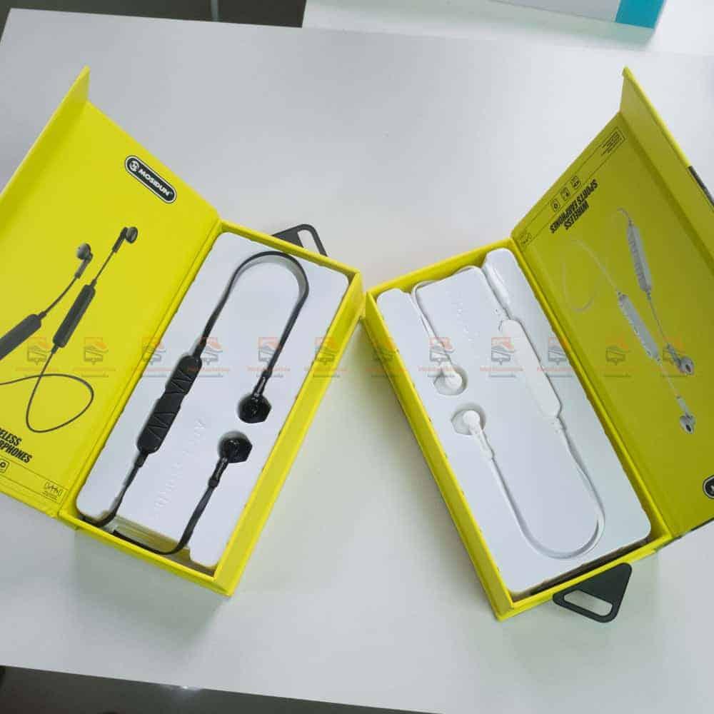 หูฟัง Bluetooth mosidun r8 Sports earphones แบบ iPhone-รีวิว รูปสินค้าจริง-3