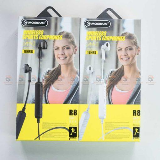 หูฟัง Bluetooth mosidun r8 Sports earphones แบบ iPhone-รีวิว รูปสินค้าจริง