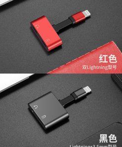 Lightning adapter + Audio 3.5mm for iPhone 7 8 X ฟังเพลง พร้อมชาร์จ ยี่ห้อ Torras-7