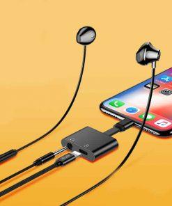 Lightning adapter + Audio 3.5mm for iPhone 7 8 X ฟังเพลง พร้อมชาร์จ ยี่ห้อ Torras-8
