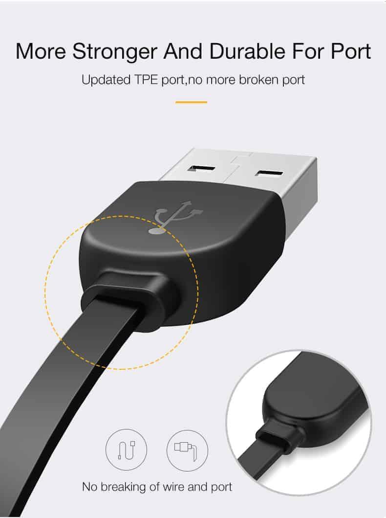 สายชาร์จไอโฟน CAFELE Retractable USB Phone Cable for iphone X 8 7 6S Plus 5S_10