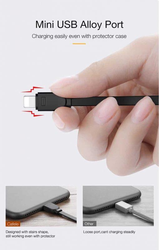 สายชาร์จไอโฟน CAFELE Retractable USB Phone Cable for iphone X 8 7 6S Plus 5S_11