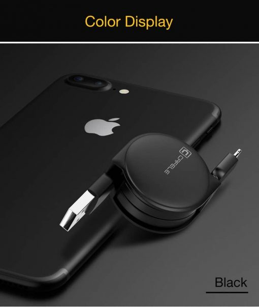 สายชาร์จไอโฟน CAFELE Retractable USB Phone Cable for iphone X 8 7 6S Plus 5S_14
