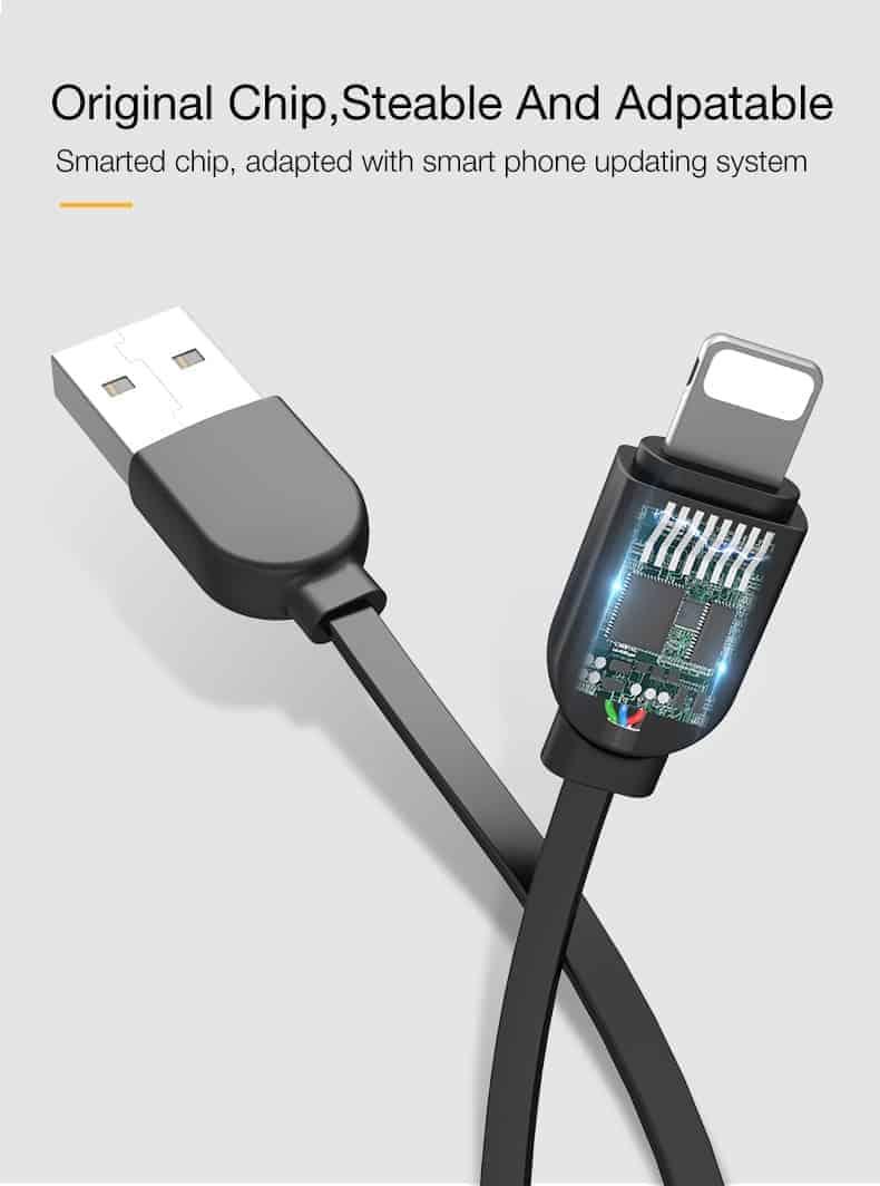 สายชาร์จไอโฟน CAFELE Retractable USB Phone Cable for iphone X 8 7 6S Plus 5S_7