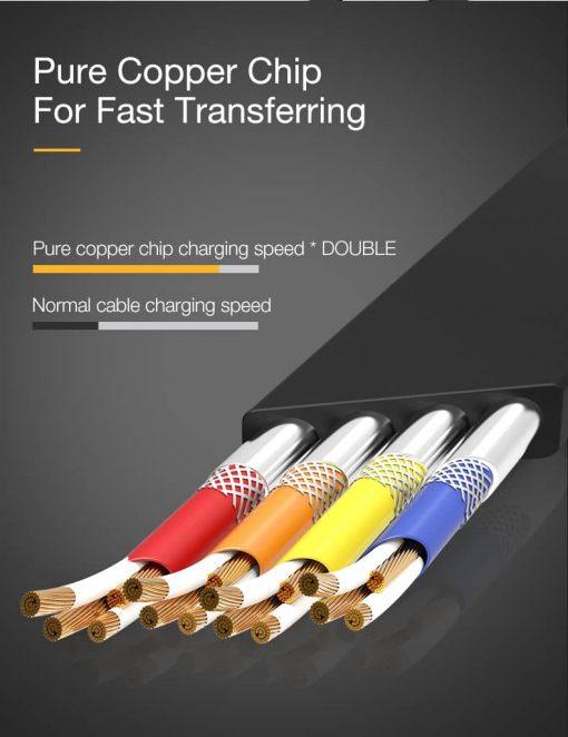 สายชาร์จไอโฟน CAFELE Retractable USB Phone Cable for iphone X 8 7 6S Plus 5S_8