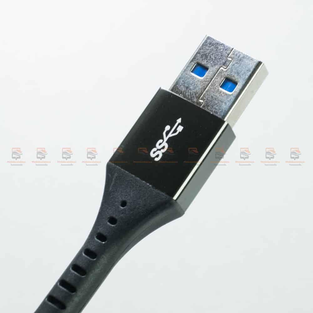 สายชาร์จ Type C USB 3.0 TIEGEM Nylon Fast Charging Cable For Samsung android-รีวิว รูปสินค้าจริง-7