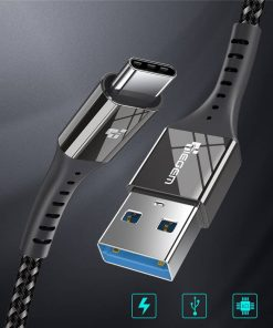 สายชาร์จ Type C USB 3.0 TIEGEM Nylon Fast Charging Cable For Samsung android_1