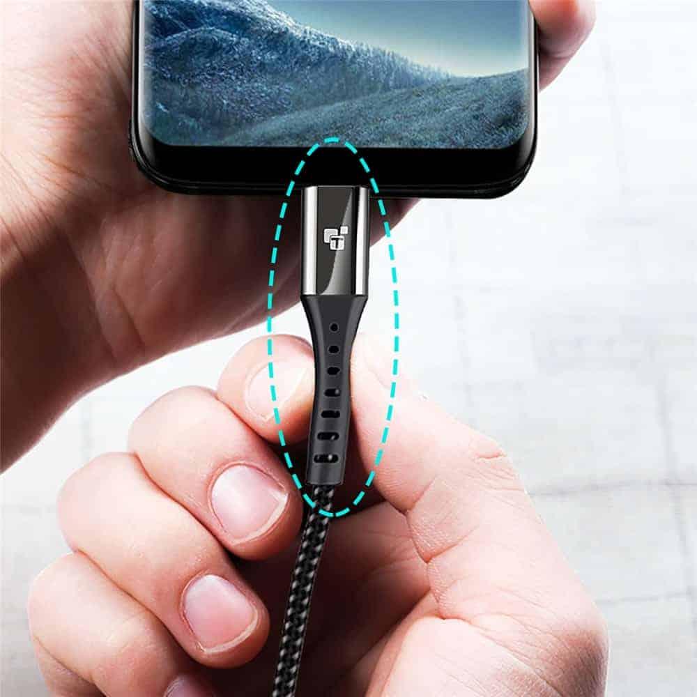 สายชาร์จ Type C USB 3.0 TIEGEM Nylon Fast Charging Cable For Samsung android_3