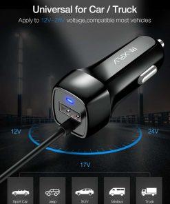 ที่ชาร์จในรถ RAXFLY USB Quick Charge Micro USB Type c Lighting Cable For iPhone Samsung android_3