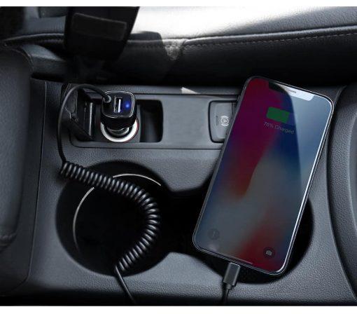 ที่ชาร์จในรถ RAXFLY USB Quick Charge Micro USB Type c Lighting Cable For iPhone Samsung android_6