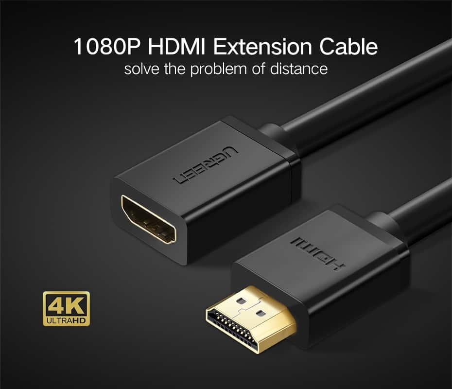 สายต่อ HDMI male to female extender for ComputerHDTV-Laptop-Projector_1
