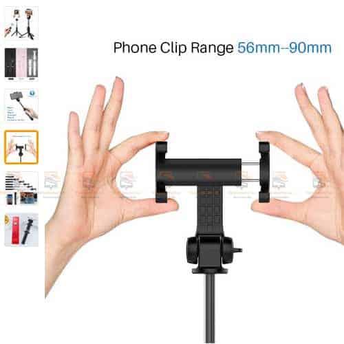 ไม้เซลฟี่ ขาตั้งมือถือ 3 in 1 Selfie Stick Phone Tripod Extendable 26 Inch Monopod-display3