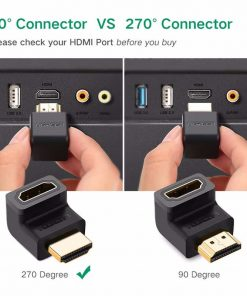 HDMI Male to Female Adapter 4K Converter Extender 270 90 Degree Right Angle 10
