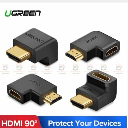 HDMI Male to Female Adapter 4K Converter Extender 270 90 Degree Right Angle 18