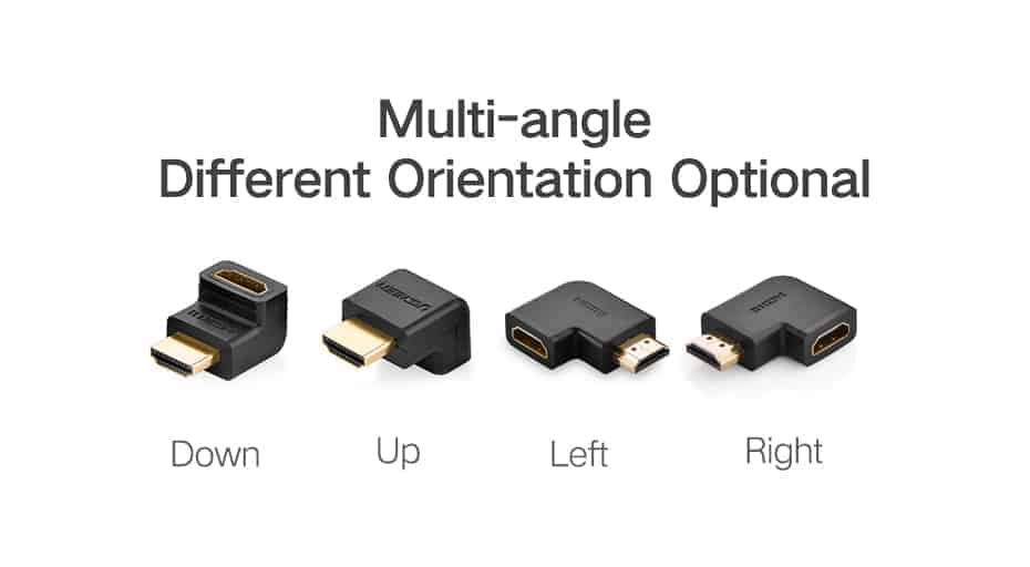 HDMI Male to Female Adapter 4K Converter Extender 270 90 Degree Right Angle for 1080P HDTV PC HDMI Adapte_3