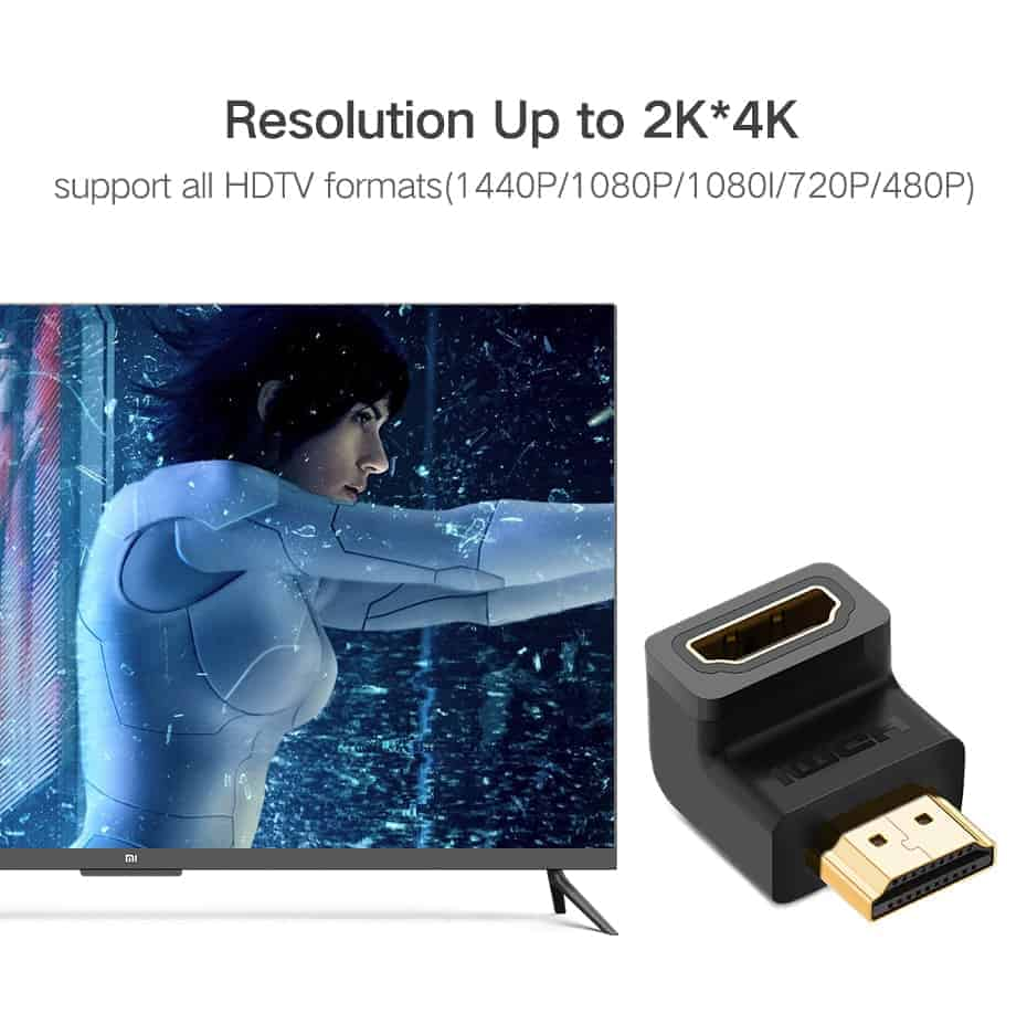 HDMI Male to Female Adapter 4K Converter Extender 270 90 Degree Right Angle for 1080P HDTV PC HDMI Adapte_5