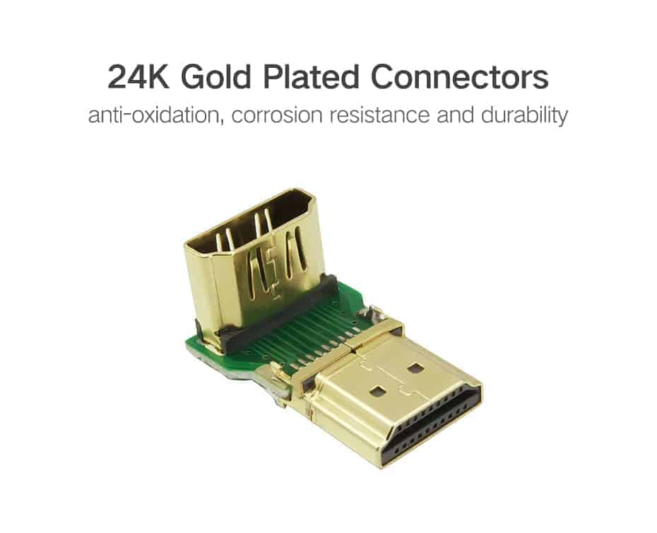 HDMI Male to Female Adapter 4K Converter Extender 270 90 Degree Right Angle for 1080P HDTV PC HDMI Adapte_7