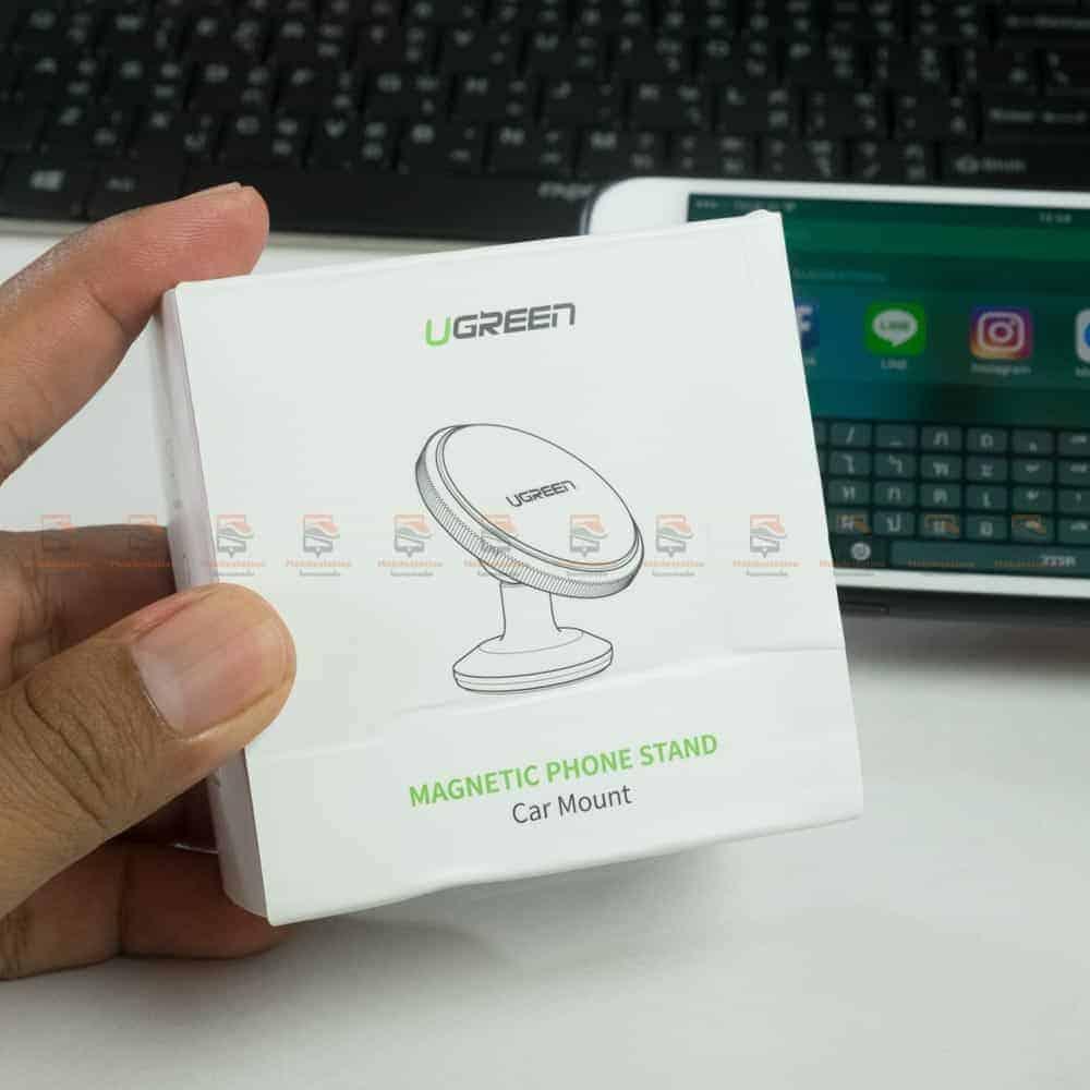 ที่ยึดโทรศัพท์ในรถ Ugreen Magnetic car Phone Holder-กล่องกด้านหน้า