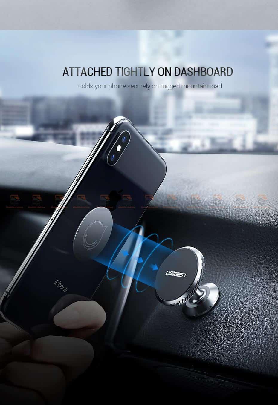 ที่ยึดโทรศัพท์ในรถ Ugreen Magnetic car Phone Holder-10-ยึดแน่นปลอดภัย