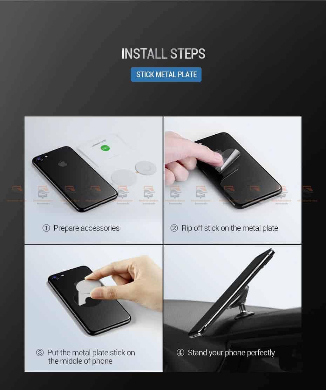 ที่ยึดโทรศัพท์ในรถ Ugreen Magnetic car Phone Holder-14-คู่มือติดตั้ง