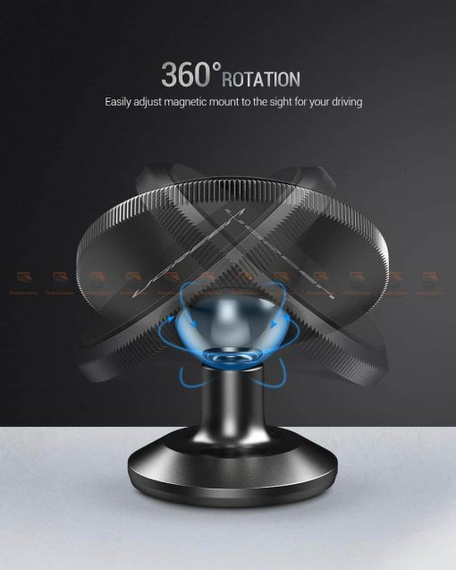 ที่ยึดโทรศัพท์ในรถ Ugreen Magnetic car Phone Holder-8-หมุนได้รอบทิศทาง 360 องศา