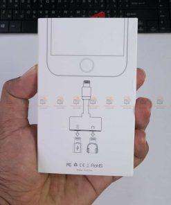 Lightning adapter for iPhone 7 8 X Xr ฟังเพลง ใช้ไมค์ได้ พร้อมชาร์จ ยี่ห้อ Suntaiho-กล่องสินค้าด้านหลัง
