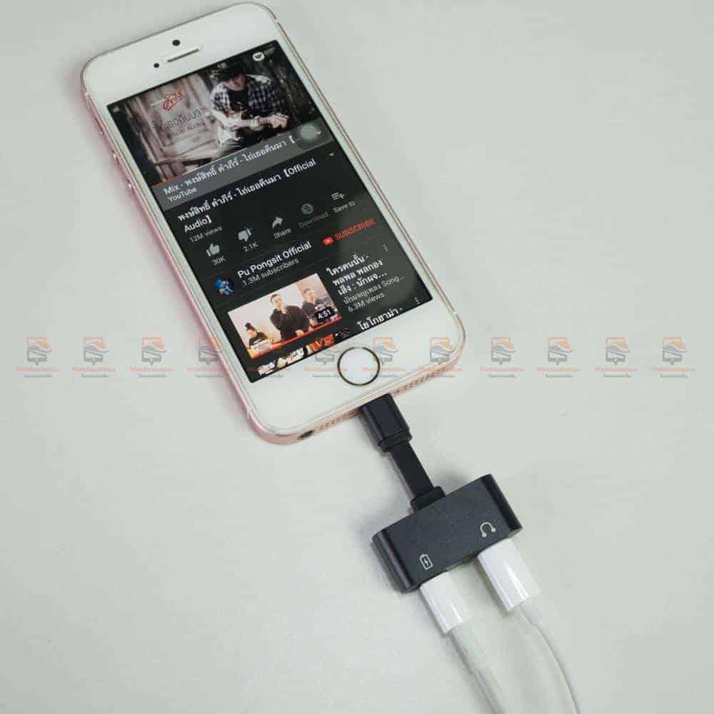 Lightning adapter for iPhone 7 8 X Xr ฟังเพลง ใช้ไมค์ได้ พร้อมชาร์จ ยี่ห้อ Suntaiho-คุณภาพเสียงดี