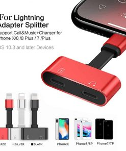 Lightning adapter for iPhone 7 8 X Xr ฟังเพลง ใช้ไมค์ได้ พร้อมชาร์จ ยี่ห้อ Suntaiho-รายละเอียด