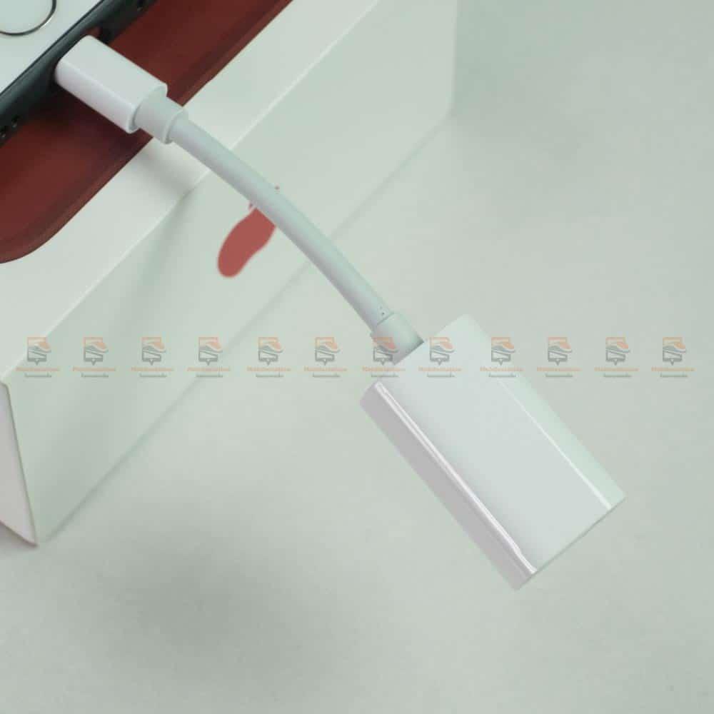 Y Cable Lightning adapter for iPhone 7 8 X Xr ฟังเพลง ใช้ไมค์ได้ พร้อมชาร์จ-สินค้าเต็ม