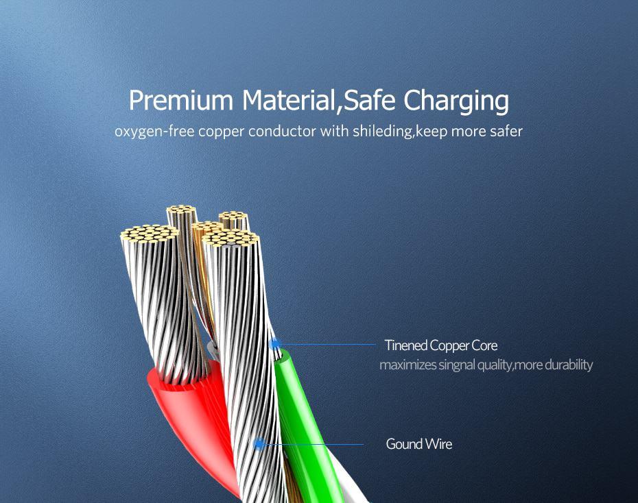 สายชาร์จ Micro USB 2.4A Ugreen Nylon Fast Charge for Samsung-android phone-8