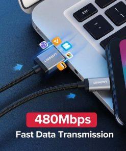 สายชาร์จ Micro USB 2.4A Ugreen Nylon Fast Charge for Samsung-android phone-gallery-3