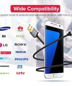 สายชาร์จ Micro USB 2.4A Ugreen Nylon Fast Charge for Samsung-android phone-gallery-5