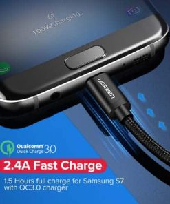 สายชาร์จ Micro USB 2.4A Ugreen Nylon Fast Charge for Samsung-android phone-gallery-6
