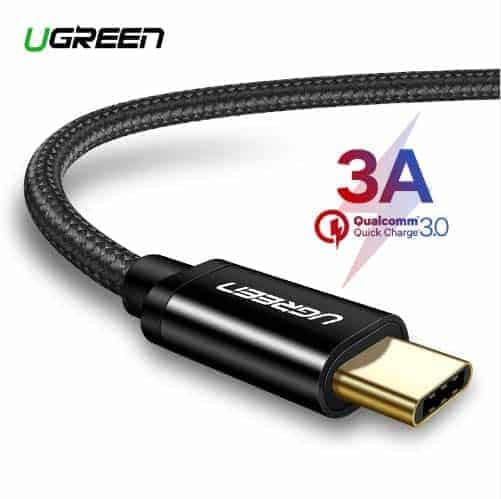 สายชาร์จ Type C Ugreen 3A Support Qualcomm Quick charger for android phone-1-gallrty 1