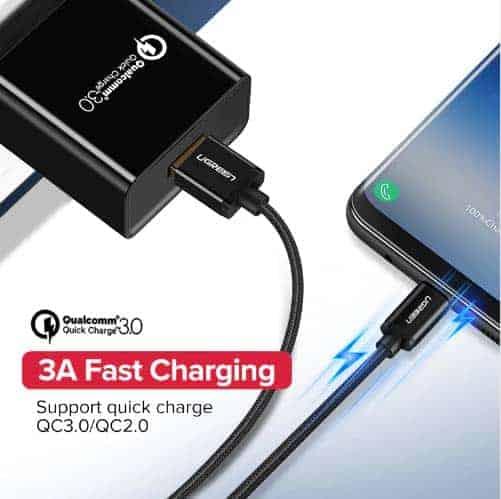 สายชาร์จ Type C Ugreen 3A Support Qualcomm Quick charger for android phone-1-gallrty 2