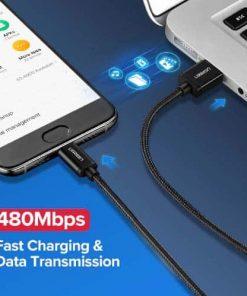สายชาร์จ Type C Ugreen 3A Support Qualcomm Quick charger for android phone-1-gallrty 4
