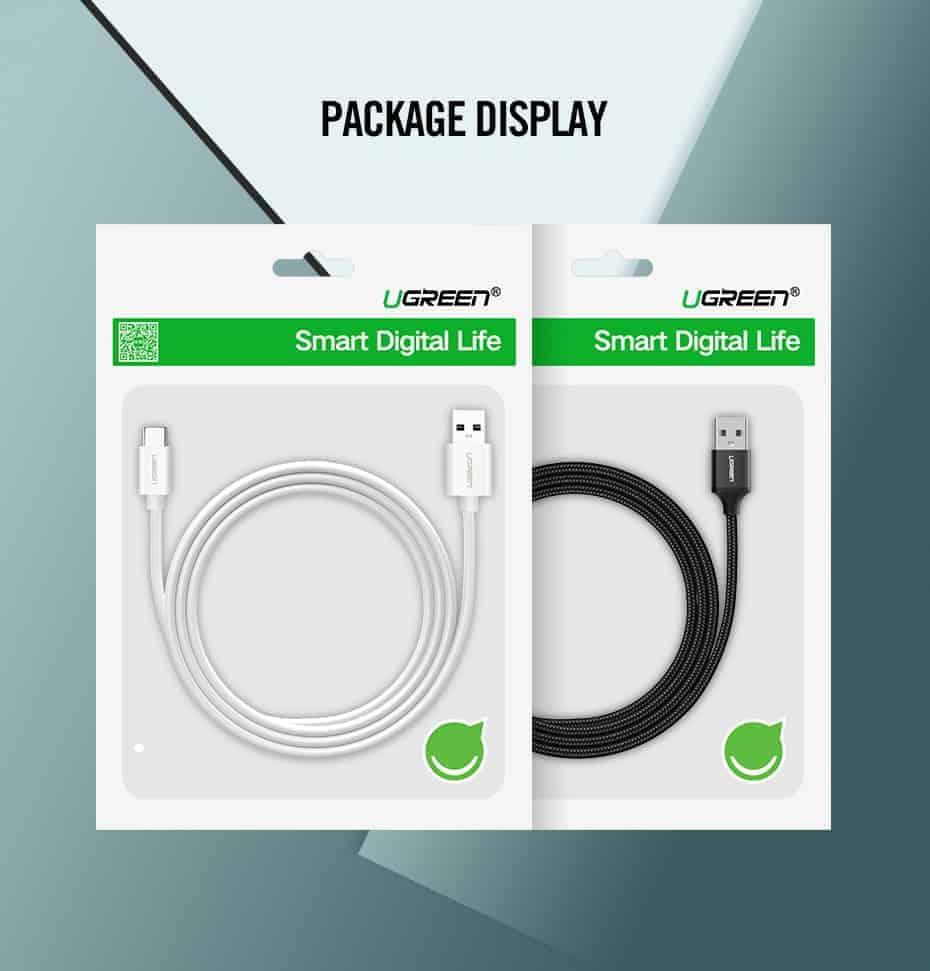 สายชาร์จ Type C Ugreen 5A for Supercharge Huawei P10 P20 Pro USB 3.1 Fast Charging-15-Package display