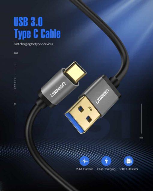 สายชาร์จ ugreen usb 3.0 type c Fast charging cable-Item specifics