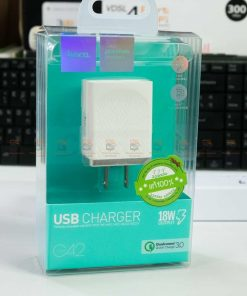 USB Charger Hoco C42 support fast charging QC3.0 QC2.0 FCP AFC -box font