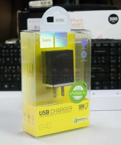 USB Charger Hoco C42 support fast charging QC3.0 QC2.0 FCP AFC -box font2