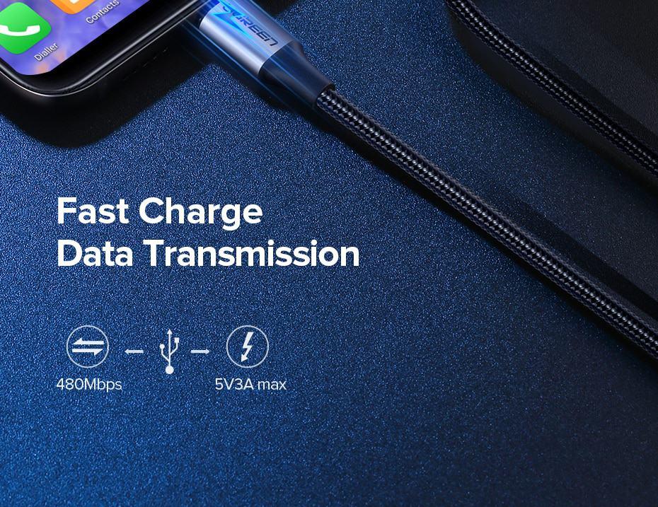 สายชาร์จ Type C UPGRADE 3A Fast CHARGING FOR DEVICES USB-C CONNECTOR-data transmission-2