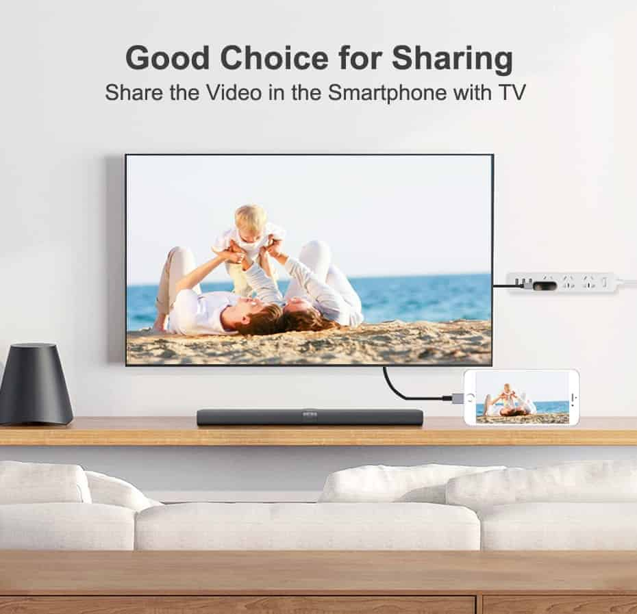Lightning to HDMI Cable for iPhone-Update iOS 12 model7522n-share the video in TV