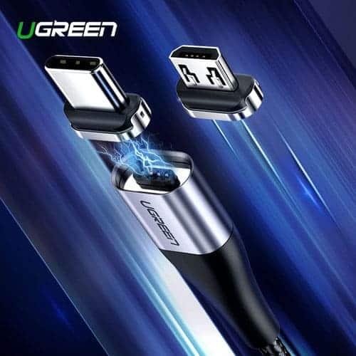 สายชาร์จ Magnetic Micro USB Type C Charger Data Cable Brand Ugreen For Samsung Android-Brochure 1