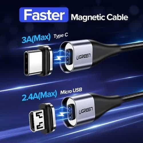 สายชาร์จ Magnetic Micro USB Type C Charger Data Cable Brand Ugreen For Samsung Android-Brochure 2