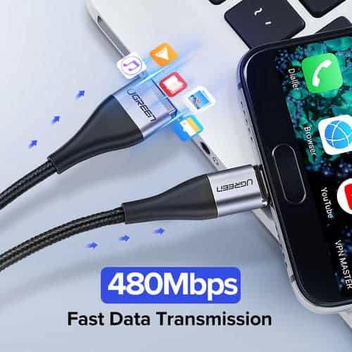 สายชาร์จ Magnetic Micro USB Type C Charger Data Cable Brand Ugreen For Samsung Android-Brochure 4