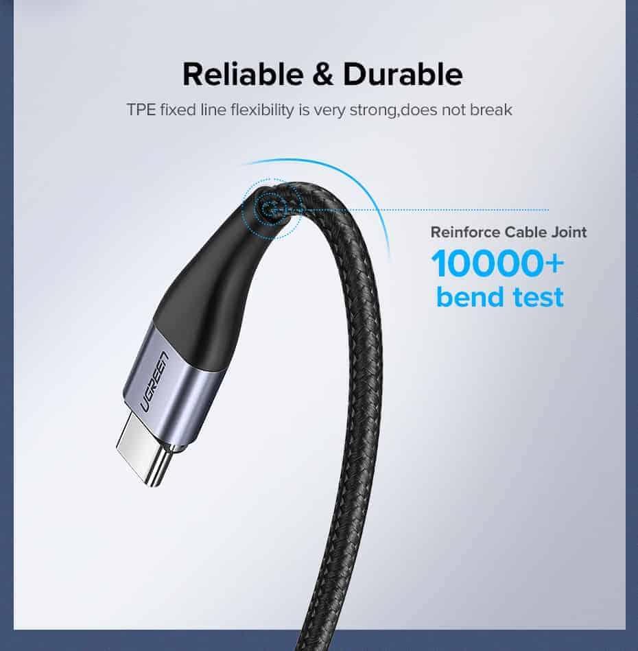 สายชาร์จ Magnetic Micro USB Type C Charger Data Cable Brand Ugreen For Samsung Android-Reliable Durable